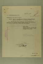 Memo from Lutz Wahl re: Report of Investigation in Regard to American Soldiers Crossing into Mexico in the Guadalupe District, April 24, 1918