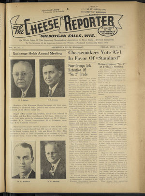 Cheese Reporter, Vol. 65, no. 31, Saturday, April 4, 1941