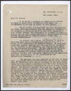 Letter from A.R. Manktelow Re: Farm Sunday to Rev. H. Carter, March 2, 1944