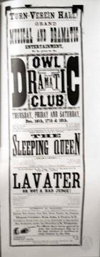 Flyer for Turn Verein Hall, California.