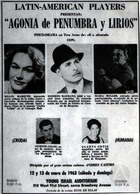 Flyer for a Play at the Young Israel Audtorium, New York, NY.