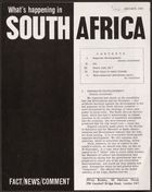 What's Happening In South Africa, January 1965 (Pg.Int.Ab.3.Viii)