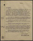 Correspondence re: Illegitimate Coloured Children, 1946