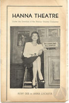 Playbill for the play Anna Lucasta, adapted by Abram Hill