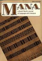 MANA: A South Pacific Journal of Language and Literature, Vol. 9, No. 2