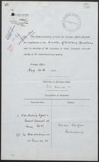Correspondence Regarding Wadai-Darfur Boundary, April-May, 1911