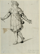 A druid, c.1638 (pen & ink on paper)