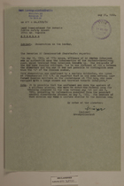 Memo from Georg Mulzer re: Observation on the Border, May 25, 1950