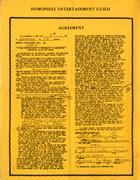 Homophile Entertainment Guild: Agreement