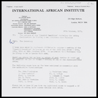 Letter from the Secretary, IAI, to members of the 'Special Committee' assisting the Acting Co-Directors in finding a new Administrative Director, 24 Oct. 1973