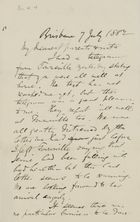 Letter from Robert Logan Jack to Robert, Margaret, and Maggie Jack, July 7, 1882