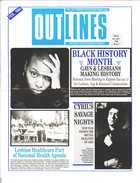 OUTLINES THE VOICE OF THE GAY AND LESBIAN COMMUNITY VOL. 7, NO. 9, FEBRUARY 1994