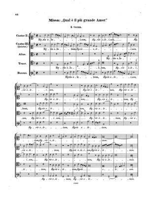 Missa Qual è il più grand' amor, Op. 76