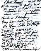 Handwritten Minutes from SPREE Board Meeting, April 25, 1972