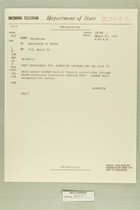 Telegram from Eric Wendelin in Jerusalem to Secretary of State, March 26, 1960