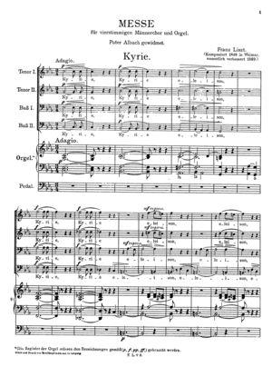 Missa choralis (Organo concinente), R.486, C Major