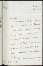 Copy of Letter from G. F. Bonham to Marquess of Salisbury re: Relations Between Spain and US, May 13, 1896