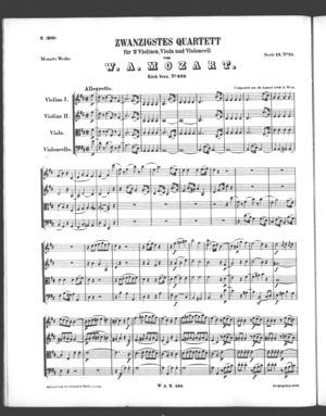 Zwanzigstes Quartett