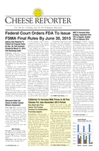 Cheese Reporter, Vol. 138, No. 1, Friday, June 28, 2013