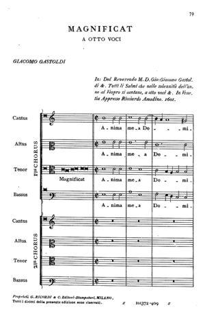Magnificat, voices 8
