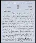 Letter from Jaap Van Velsen to MG, 23 July 1959