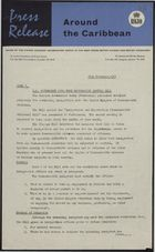 Press Release - Around the Caribbean - UK Government Publishes Immigration Control Bill, November 31, 1961