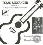 Texas Alexander Vol. 1 (1927-1928)