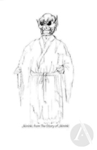 Costume design artwork by Mitsuru Ishii for Kwaidan by Ping Chong.