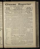 Cheese Reporter, Vol. 54, no. 17, Saturday, January 4, 1930