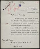 Letter to Colonial Office re: Colour Prejudice in British Empire, September 15, 1932