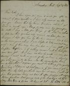 Letter from James Butchart to Robert Butchart, September 24, 1843