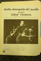 Flyer for Silent Partners, by Teatro Desengano del Pueblo, Michigan, March 1978.