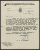 Letter from S.G.G. Wilkinson to D. Emery, May 6, 1953