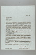 Letter from Alice Stetten to Mrs. Carl Shoup, May 20, 1955