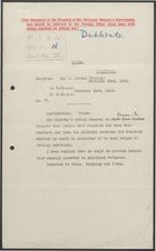 Copy of Confidential Decypher from Sir J. Jordan to United Kingdom Foreign Office re: Protection for Military Governor, February 23, 1916