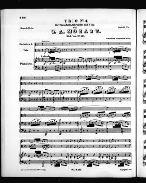 Trio No. 4 für Pianoforte, Clarinette, und Viola