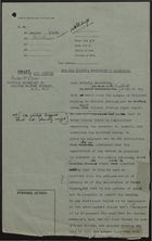 Draft of Letter to Miss H. Snow, Secretary to Colonel Oliver Stanley, re: Letter from League of Coloured Peoples - Private Secretary's Signature Needed, April 6, 1950