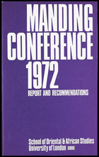 Manding Conference 1972: Report and Recommendations