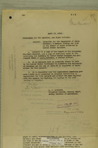 Memos from E. D. Anderson and Benedict Crowell re: Indemnity for the Dependents of Julie Carrasco, a Mexican Citizen who Died as the Result of Wound Inflicted by United States Soldiers, April, 1919