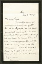 Letter from Alfred W. Howitt to Edith Thompson, February 8, 1888