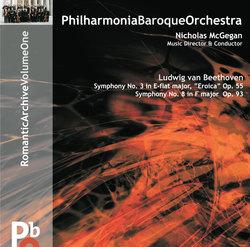 Beethoven Symphonies No 3 Eroica and No 8 Album Art