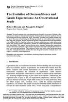 The Evolution of Overconfidence and Grade Expectations: An Observational Study