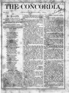 The Concordia, Vol. 1, no. 1, January, 1866