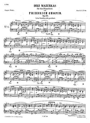 Mazurka no. 30, B.145, Op, 50/1, G Major