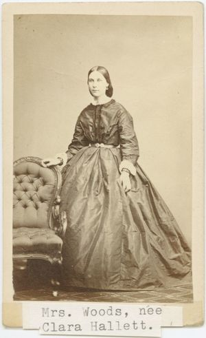 Carte De Visite Of Mrs Woods Nee Clara Hallett