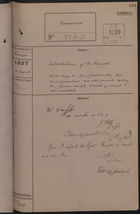Correspondence Cover Sheet re: Extradition of Alfred Poujat, March 11, 1897