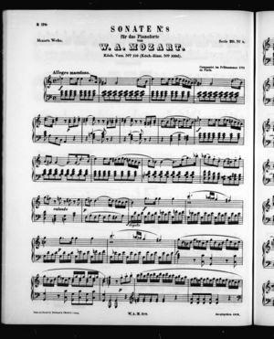Sonata No. 8 für Pianoforte