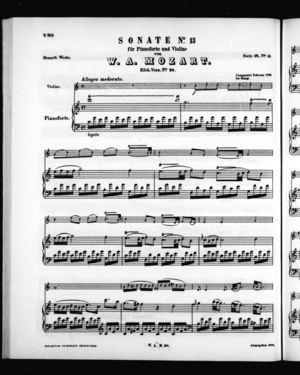 Sonate No. 13 für Pianoforte und Violine, K. 28, C Major
