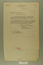 Memos from Lytle Brown and Robert Lansing re: Mexican Affairs, May, 1918