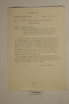 Translation of Letters for the  Bavaria State Ministry of the Interior, July 1946